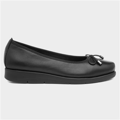 Womens Black Leather Shoe
