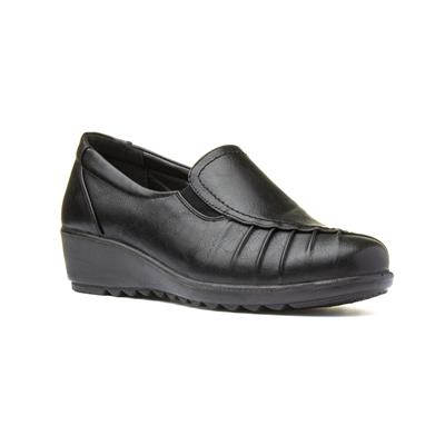Ursula Womens Black Slip On Shoe