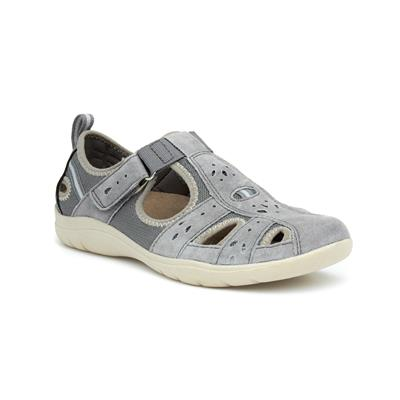 Cleveland Womens Grey Flat Shoe