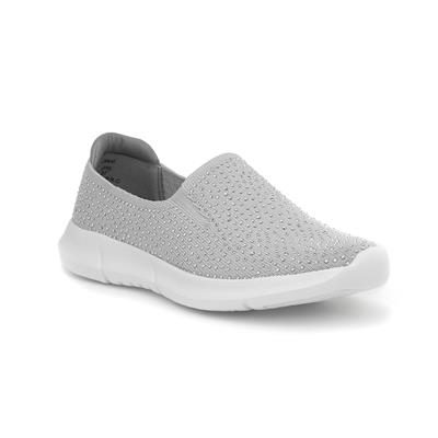 Jewell Grey Slip On Shoes