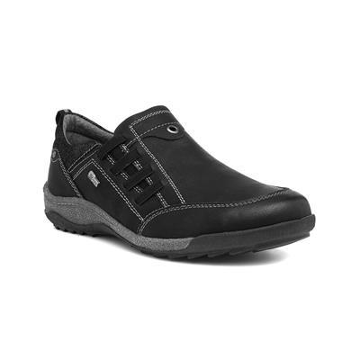 Women's Black Wide Slip On Shoe