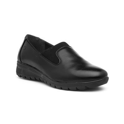 Naples Womens Black Wedge Shoe