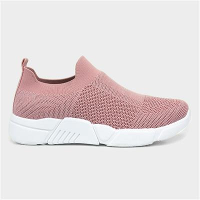 Womens Pink Slip On Casual Shoe