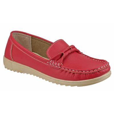 Womens Paros Loafer Shoe in Red