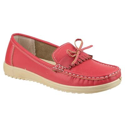 Womens Elba Loafer Shoe in Red