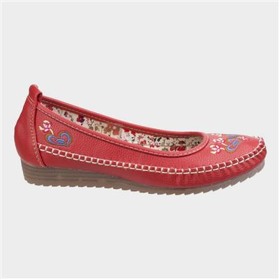 Womens Algarve Shoe in Red