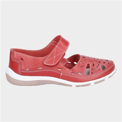 Womens Jasmine in Red Leather