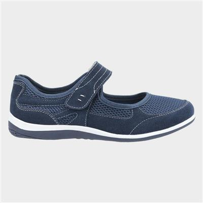 Womens Morgan Navy Leather Shoe