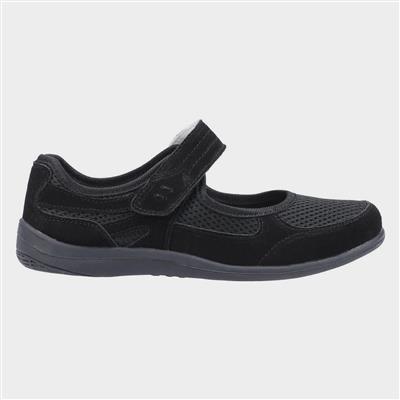 Womens Morgan Black Leather Shoe