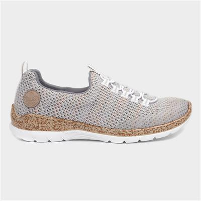 Womens Multi Colour Knitted Shoe