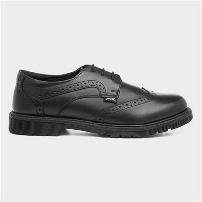 Lorrie Black Leather Brogue Shoe Sizes 36-41