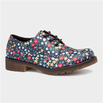 Angel Womens Navy Floral Shoe