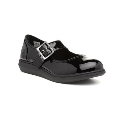 Mixie Womens Black Patent Flat Shoe