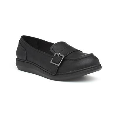 Marez Womens Black Slip On Loafer