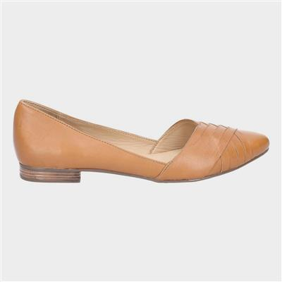 Marley Ballerina Slip On Shoe in Tan