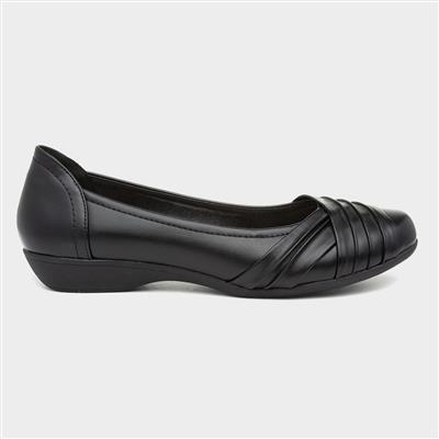 Womens Black Slip On Ballerina