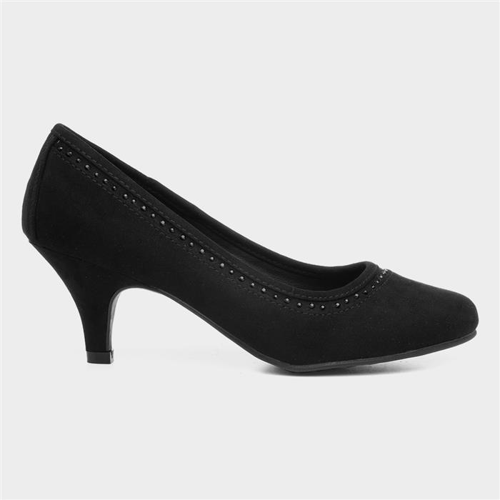 50s Dresses UK | 1950s Dresses, Shoes & Clothing Shops Lilley Womens Diamante Court Shoe in Black £9.99 AT vintagedancer.com