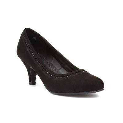 Womens Diamante Court Shoe in Black