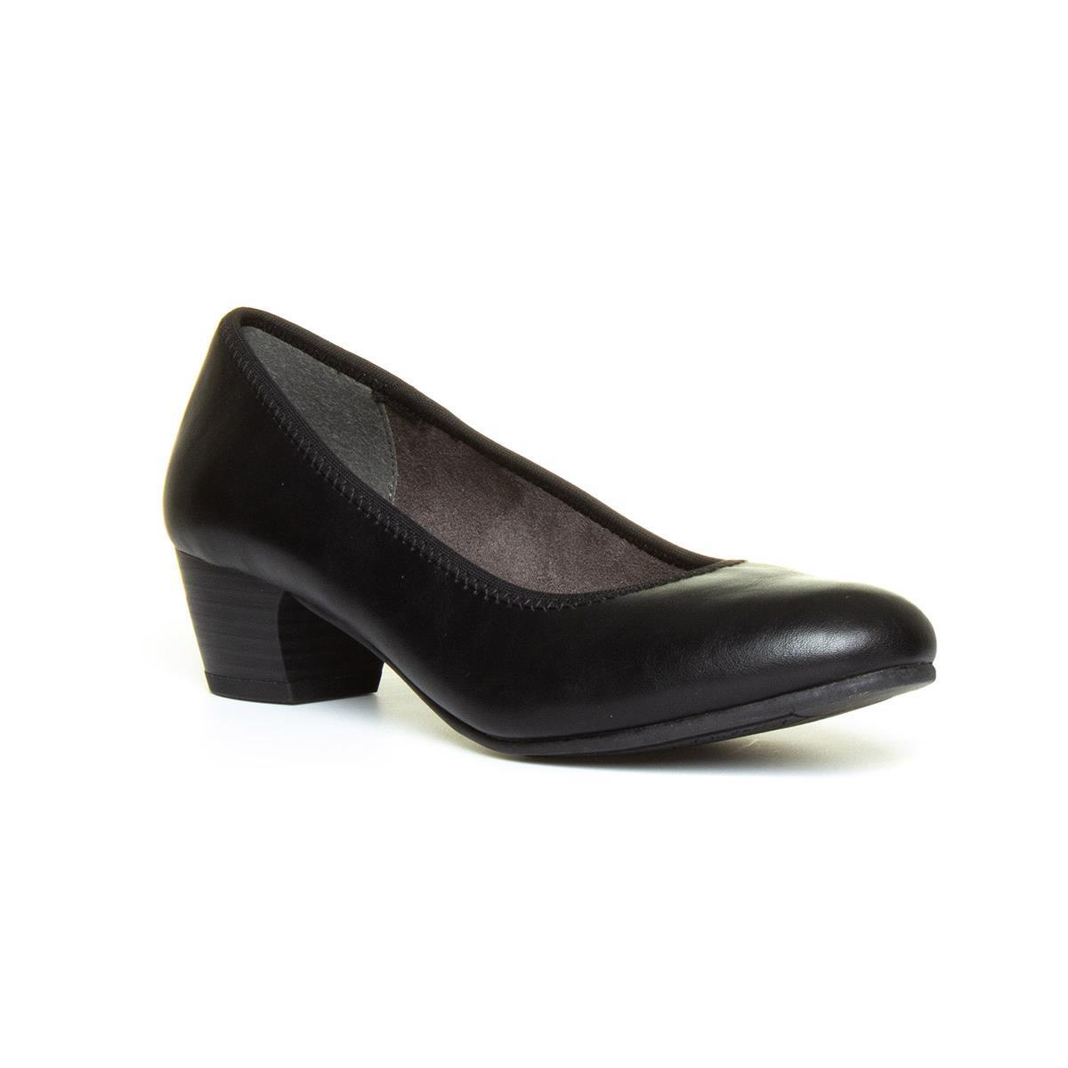 Jana Softline Womens Block Heel Black