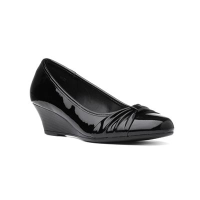 Womens Black Patent Wedge Shoe