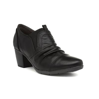 Womens Black Heeled Shoe