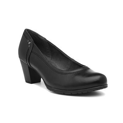 Womens Heeled Black Court Shoe