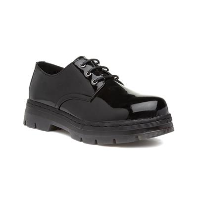 Womens Black Patent Lace Up Shoe