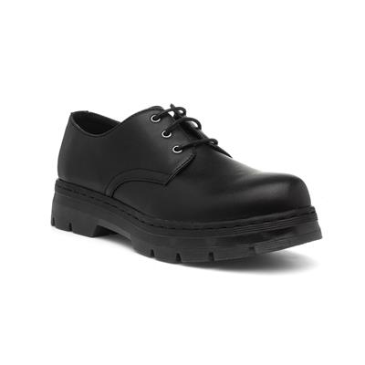 Womens Lace Up Formal Shoe in Black