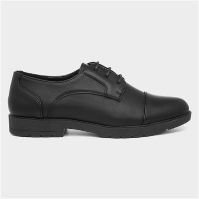 Womens Black Smart Lace Up Shoe