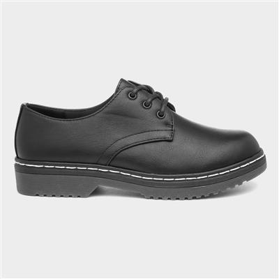 Womens Lace Up Shoe in Black