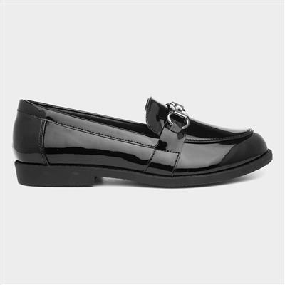 Womens Patent Loafer in Black
