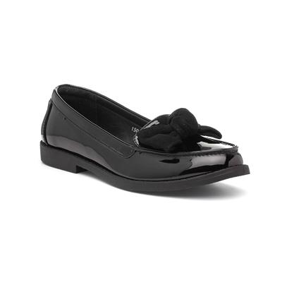 Womens Black Loafer with Bow