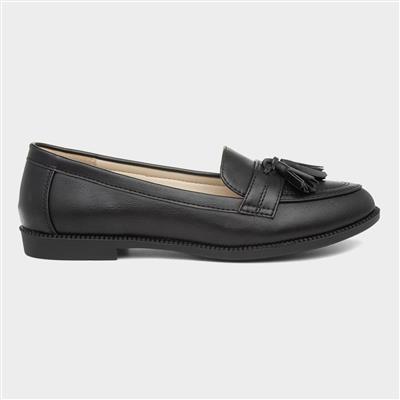 Womens Black Matte Loafer