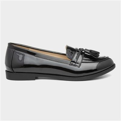 Womens Black Patent Loafer
