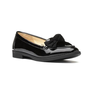 Womens Black Patent Loafer with Bow