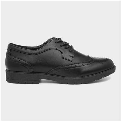 Womens Brogue Lace Up Shoe in Black