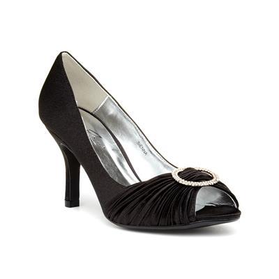 Womens Black Heeled Shoe