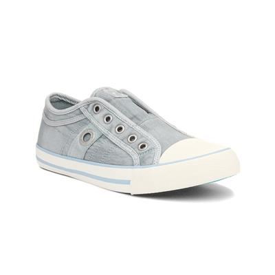 Womens Slip On Pale Blue Canvas Shoes