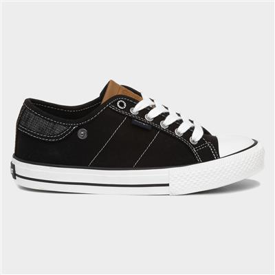Ray Womens Black Lace Up Canvas