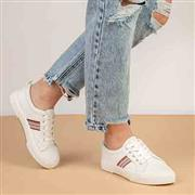 Lilley Womens White Lace Up Canvas (Click For Details)