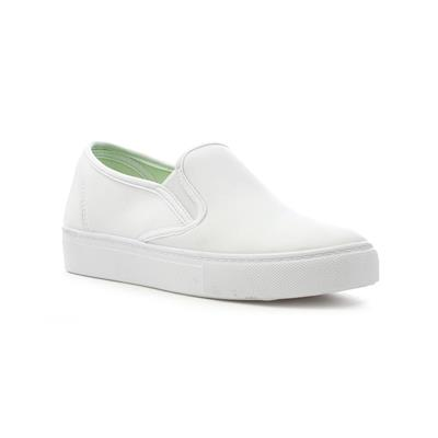 Womens White Slip On Canvas