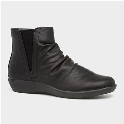 Libra Womens Black Ankle Boot