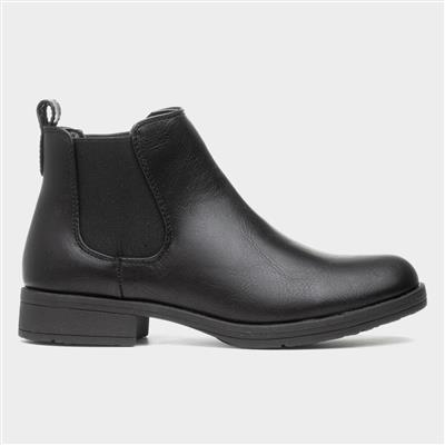 Womens Black Chelsea Pull On Boot