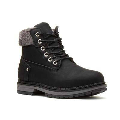 Sarah Womens Black Lace Up Boot