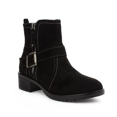 Womens Black Ankle Boot with Stitch Detail