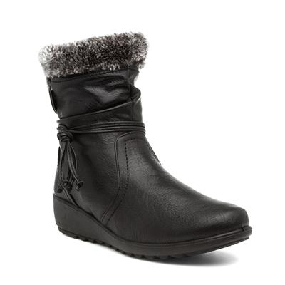 Laura Womens Black Ankle Boot