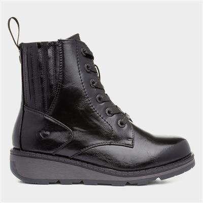 Journey Womens Black Ankle Boot