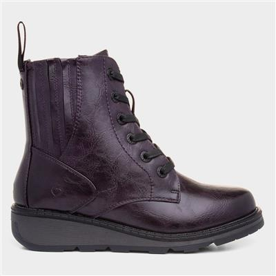 Journey Womens Purple Ankle Boot
