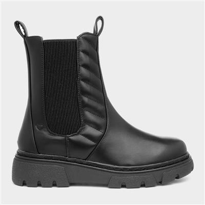 Bench Womens Black Ankle Boot