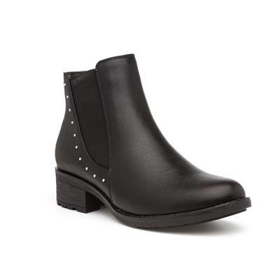 Womens Black Studded Chelsea Boots